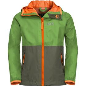 Jack Wolfskin Rainy Days Jas Kinderen, groen/oranje